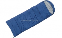 Спальник Terra Incognita Asleep 200 L одеяло с капюшоном (тёмно-синий)