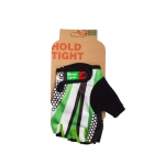 Перчатки Green Cycle NC-2540-2015 Light без пальцев бело-зеленые