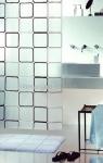 Шторка для ванной (винил) - FRAME черный
