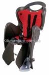 Сиденье задние (детское велокресло) Bellelli MR FOX Сlamp (на багажник) до 22 кг, чёрное с красной подкладкой