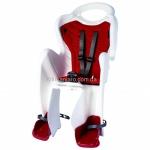 Сиденье заднее (детское велокресло) Bellelli MR FOX Standart B-Fix до 22 кг, белое с красной подкладкой