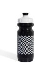 Фляга 600ml Green Cycle Орнамент с Big Flow valve, LDPI black nipple/ white matt cap/ black bottle