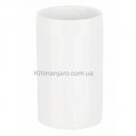 Стакан для ванной комнаты Spirella TUBE  белый