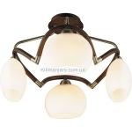 Потолочный светильник Lumicerna LC-101.1.04 Antique brass & Walnut