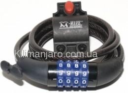 Замок - M-Wave DS 8.15  8х1500мм,кодовый, черный (230170)