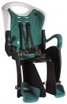 Сиденье заднее (детское велокресло) Bellelli TIGER Standart Multifix до 22 кг, чёрно-белое с бирюзовой подкладкой