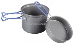 Котелок с крышкой-сковородой из анодированного алюминия Tramp TRC-039