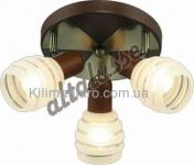 Потолочный светильник Altalusse INL-9269C-03 Antique brass & Walnut