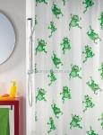 Шторка для ванной (винил) - FROGTIME зеленый