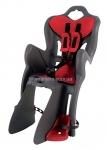 Сиденье заднее (детское велокресло) Bellelli B1 Сlamp (на багажник) до 22 кг, серое с красной подкладкой