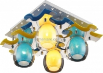 Потолочный светильник Altalusse INL-9319C-04 White/Yellow+Blue (8599879905049)