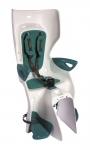 Сиденье заднее (детское велокресло) Bellelli SUMMER Сlamp (на багажник) до 22 кг, белое с бирюзовой подкладкой