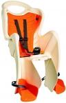 Сиденье задние (детское велокресло) Bellelli PEPE Сlamp (на багажник) до 22 кг, бежевое с оранжевой подкладкой