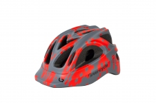 Шлем Green Cycle SPACE INVADER серо-красный, размер 54-58 см