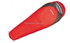 Спальник Terra Incognita Junior 300 L кокон (красный/серый)