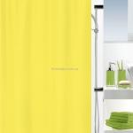 Шторка для ванной текстильная Spirella PRIMO желтая