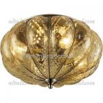Потолочный светильник Altalusse INL 6088C-04 Antique brass & Tea glass