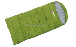 Спальник Terra Incognita Asleep JR 200 R одеяло с капюшоном (зелёный)