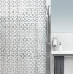 Шторка для ванной (peva) - GRID серый