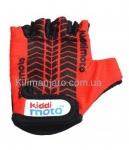 Перчатки детские Kiddi Moto с рисунком протектора, красные