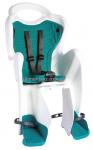 Сиденье задние (детское велокресло) Bellelli MR FOX Сlamp (на багажник) до 22 кг, белое с бирюзовой подкладкой