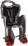 Сиденье задние (детское велокресло) Bellelli MR FOX Сlamp (на багажник) до 22 кг, серебристое с чёрной подкладкой