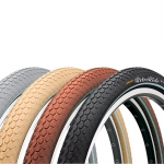 Покрышка Continental RIDE Cruiser Reflex,  28x2.20, 55-622,  Wire, ExtraPuncture Belt, коричневый