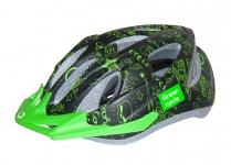 Шлем детский Green Cycle FAST FIVE черно-зеленый, размер 50-56 см