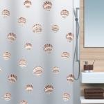 Шторка для ванной (винил) - SHELL коричневый