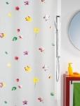 Шторка для ванной (винил) - ALOHA многоцветный