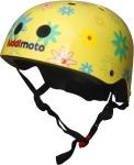 Шлем детский Kiddi Moto жёлтый с цветами