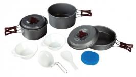 Набор посуды из анодированного алюминия на 2-3 персоны Tramp TRC-024