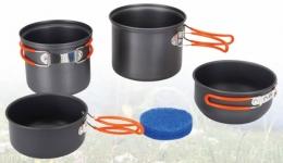 Набор посуды из анодированого алюминия на 1-2 персоны Tramp TRC-075
