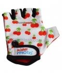 Перчатки детские Kiddi Moto белые с вишенками